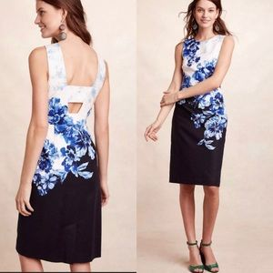 Anthropologie | Floral Vanda Sheath Peep Dress